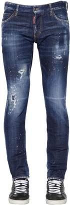 DSQUARED2 17.5cm Slim Cotton Denim Jeans