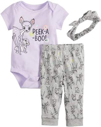 b2ceb1e1ef984 Disneyjumping Beans Disney's Bambi Baby Girl Bodysuit, Leggings & Headband  Set by Jumping Beans