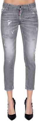 DSQUARED2 Super Skinny Cropped Denim Jeans