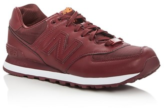 New Balance Men's 574 Flight Jacket Lace Up Sneakers $79.95 thestylecure.com