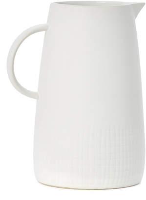 Torre & Tagus Avant Imprint White Ceramic Pitcher
