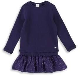 Carrement Beau Girl's Drop Waist Cotton Dress