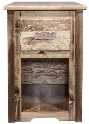 clear Montana Woodworks Homestead Collection End Table w/ Drawer, Stain & Lacquer Finish