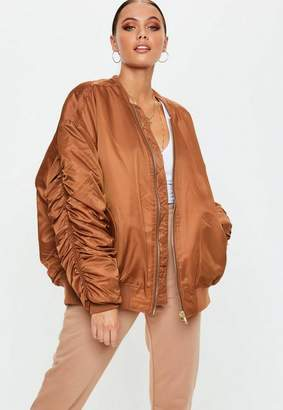 Missguided Rust Bomber Jacket
