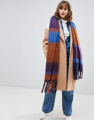 Pieces autumn check scarf