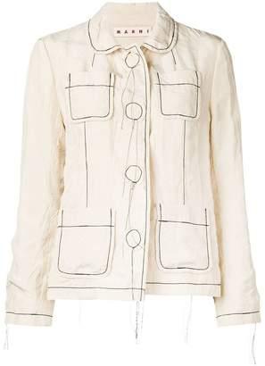 Marni contrast stitch jacket