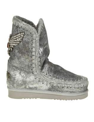 Mou Sneakers eskimo 24 Leather Laminate Color Silver With Detail Cry