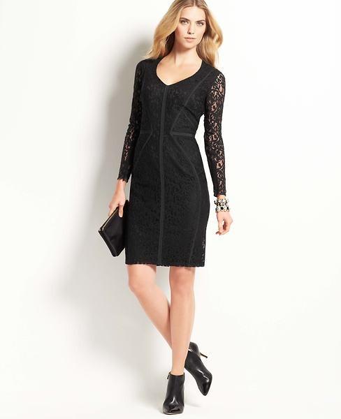 Ann Taylor Midnight Lace Dress