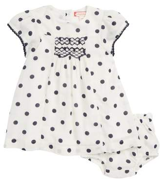 Ruby & Bloom Embroidered Dot Dress