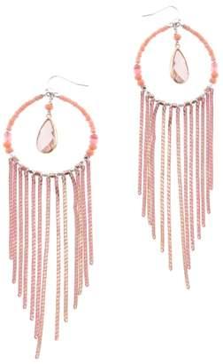 Nakamol Design Round Chain Fringe Earrings