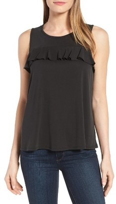 Women's Halogen Ruffle Front Tank $39 thestylecure.com