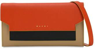 Marni TRUNK SAFFIANO LEATHER WALLET CHAIN BAG