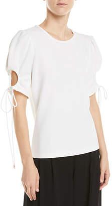 See by Chloe Tie-Sleeve Knit Top