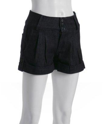 Hudson eternal stretch pleated denim cuffed shorts