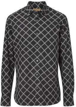 Burberry Men's Chain-Print Cotton Sport Shirt - Black - Size Large