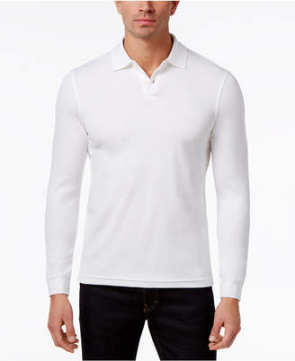 Tasso Elba Men's Supima Blend Long-Sleeve Polo, Created for Macy's