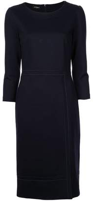 Les Copains fitted mid-length dress