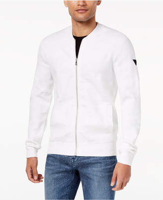 GUESS Men's Textured Sweater-Jacket