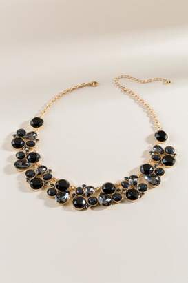 francesca's Eva Crystal Statement Necklace - Black