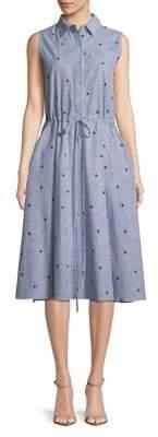 Molly Bracken Pinstripe Cotton Dress