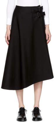 Studio Nicholson Black Wool Kilt Wrap Skirt