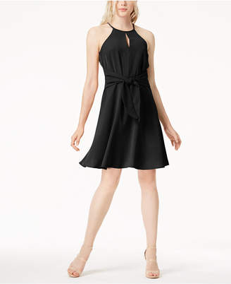 Bar III Tie-Waist Halter Dress, Created for Macy's