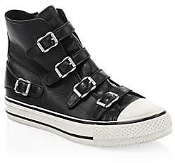 Ash Women's Virgin Leather Buckle High-Top Sneakers