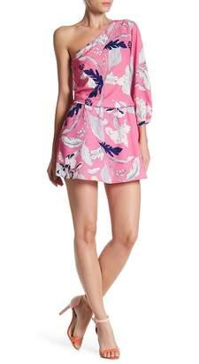 Yumi Kim One Shoulder Floral Print Dress