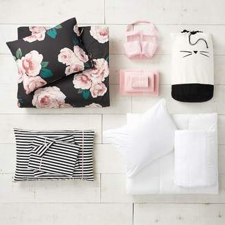 Pottery Barn Teen The Emily & Meritt Bed Of Roses Black/Blush Deluxe Move-In Bundle, Twin/Twin XL