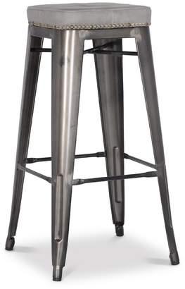 Apt2B Grand Metal Padded Bar Stool- Set of 4 VINTAGE GREY