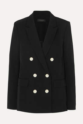 Rag & Bone Tia Double-breasted Crepe Blazer - Black