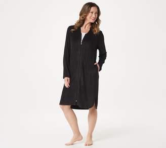 Carole Hochman Rayon Baby Terry Zip-Up Short Robe