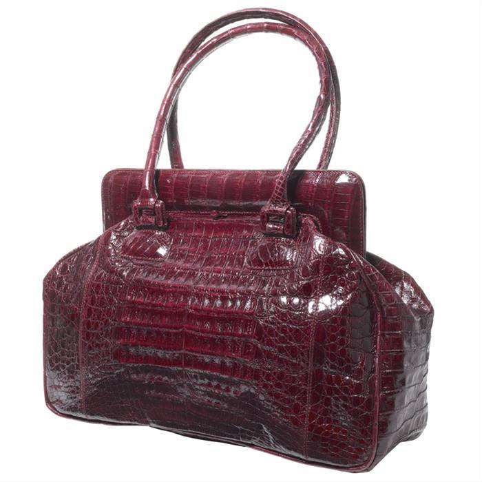 Burgundy Croc Doctor's Bag by Rinkel