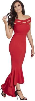 Jessica Wright Giovanna Hi-low Maxi Dress - Red
