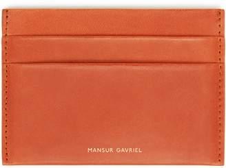 Mansur Gavriel Vegetable Tanned Credit Card Holder - Brandy