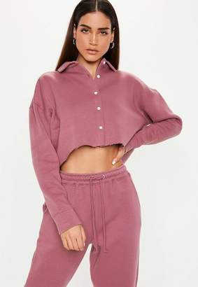 Missguided Button Front Crop Sweater