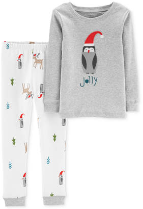 Carter's Baby Boys 2-Pc. Cotton Holiday Penguin Pajamas Set