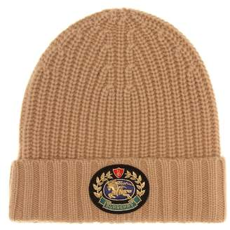 Burberry Crest wool and cashmere beanie