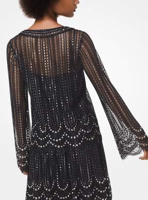 MICHAEL Michael Kors Embellished Lace Blouse