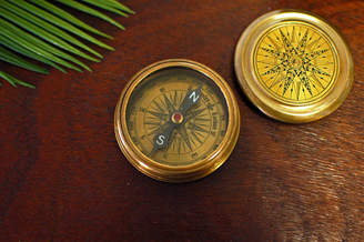 Made With Love Designs Ltd Gold Compass Paperweight Christmas Gift For Him