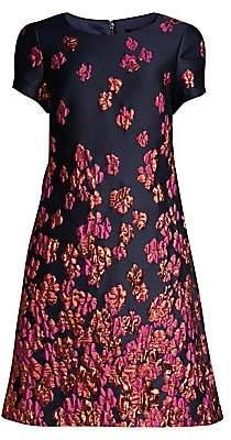 Aidan Mattox Women's Metallic Floral Cap Sleeve Dress - Size 0