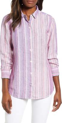 Tommy Bahama Micronesia Stripe Linen Shirt