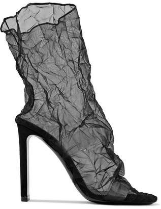 Nicholas Kirkwood D'arcy Pvc And Crinkled-organza Ankle Boots