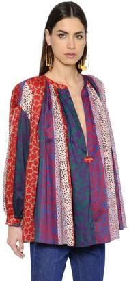 Sonia Rykiel Bohemia Flare Multi Printed Cotton Shirt