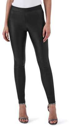 Reiss Valerie Mix Media Leather Leggings