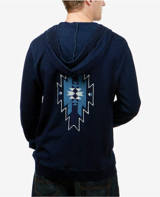 Lucky Brand Men's Aztec Motif Zip-Front Hoodie