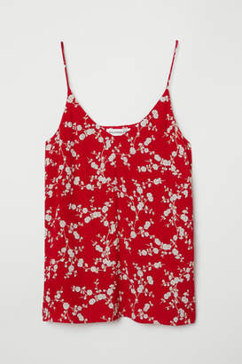 H&M Creped Camisole Top - Red