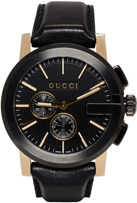 Gucci Black G-Chrono Watch $1,820 thestylecure.com