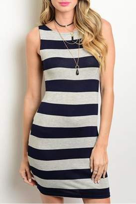 Solemio Nautical Stripes Dress