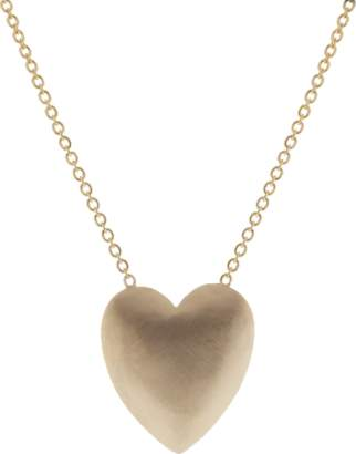 Irene Neuwirth JEWELRY Extra Large Heart Flat Gold Necklace